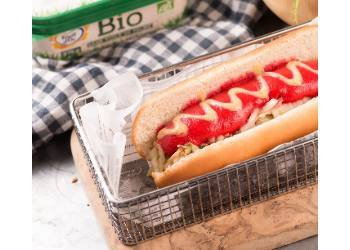 recipe image Hot-dog carotte, betteraves, margarine et moutarde