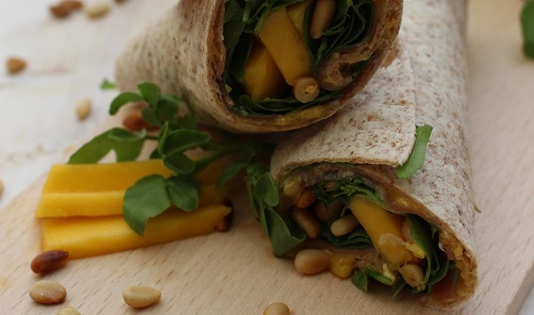 recipe image Wrap à la mangue